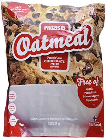 Prozis Oatmeal 1250g - Cereales Repletos de Proteínas, Hidratos de Carbono de Alta Calidad y Fibras Saciantes - Sabor Pepitas de Chocolate - Apto para ...