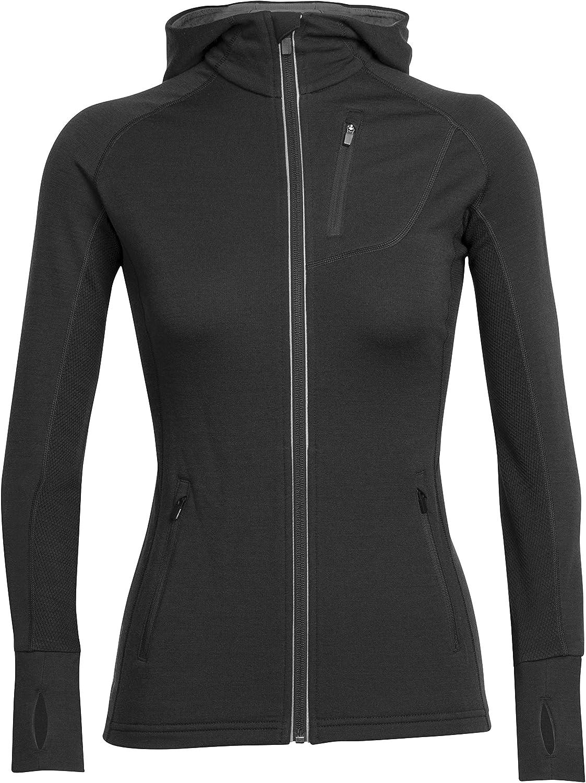 Icebreaker Jacke Kapuze Pullover Quantum Long Sleeve Zip Hood - Sudadera para Mujer