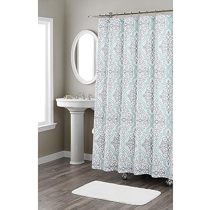 Home Dynamix Nicole Miller Laurel 100 Cotton Fabric Shower Curtain Standard 72quotX72quot