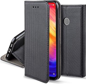 Moozy Funda para Xiaomi Redmi Note 7, Redmi Note 7 Pro, Negra ...