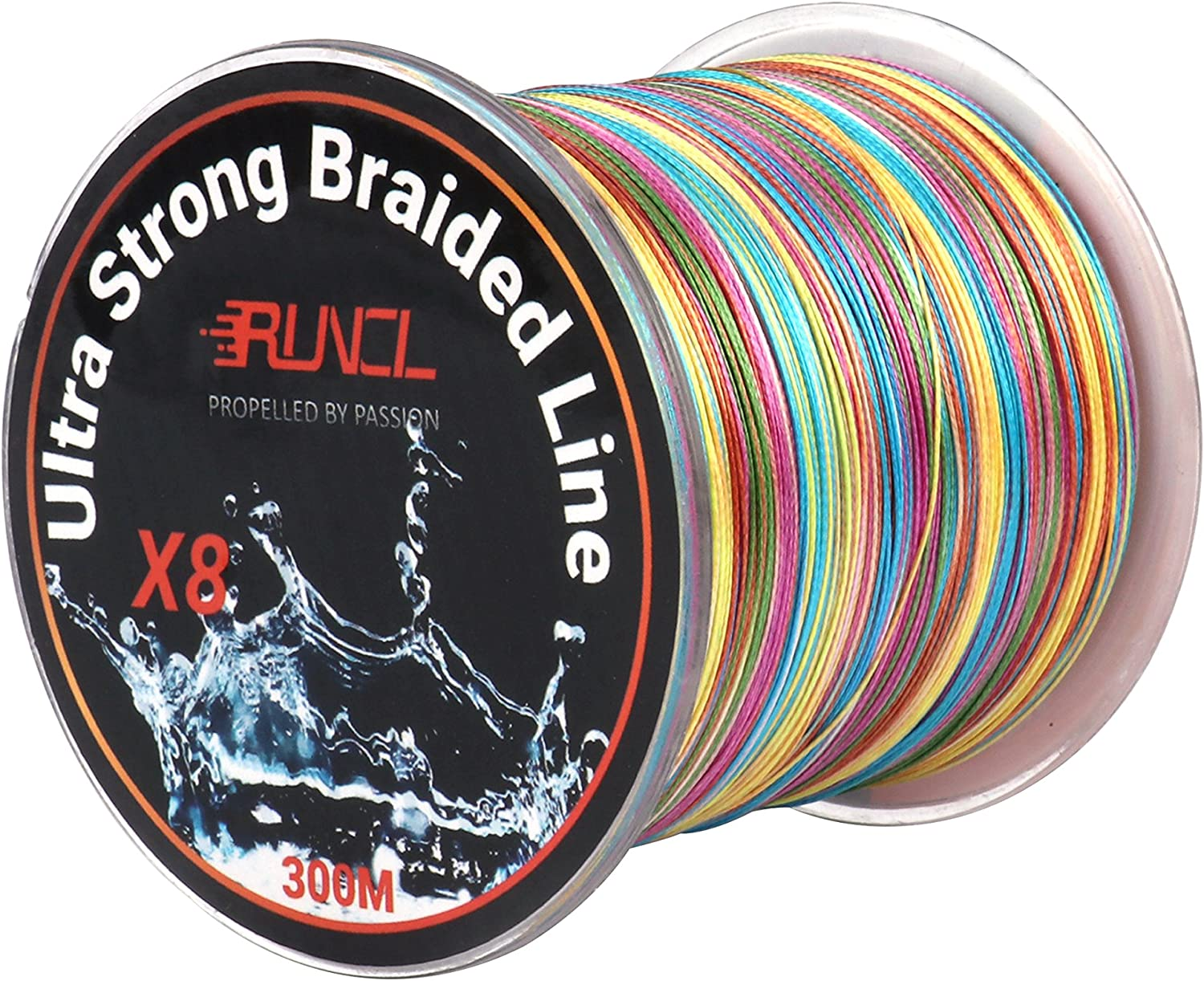 RUNCL Braided Fishing Line 8 Strands, Ultra Strong Braided Line – Smaller Diameter, Zero Memory, Zero Extension, Multiple Colors – 1093Yds 1000M 546Yds 500M 328Yds 300M 109Yds 100M, 12-100LB