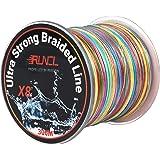 RUNCL Braided Fishing Line 8 Strands, Ultra Strong Braided Line - Smaller Diameter, Zero Memory, Zero Extension…