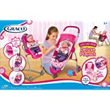 Graco 11 Pcs Just Like Mom Deluxe Playset Stroller; Swing High Chair Travel Bag + 8 Accessories