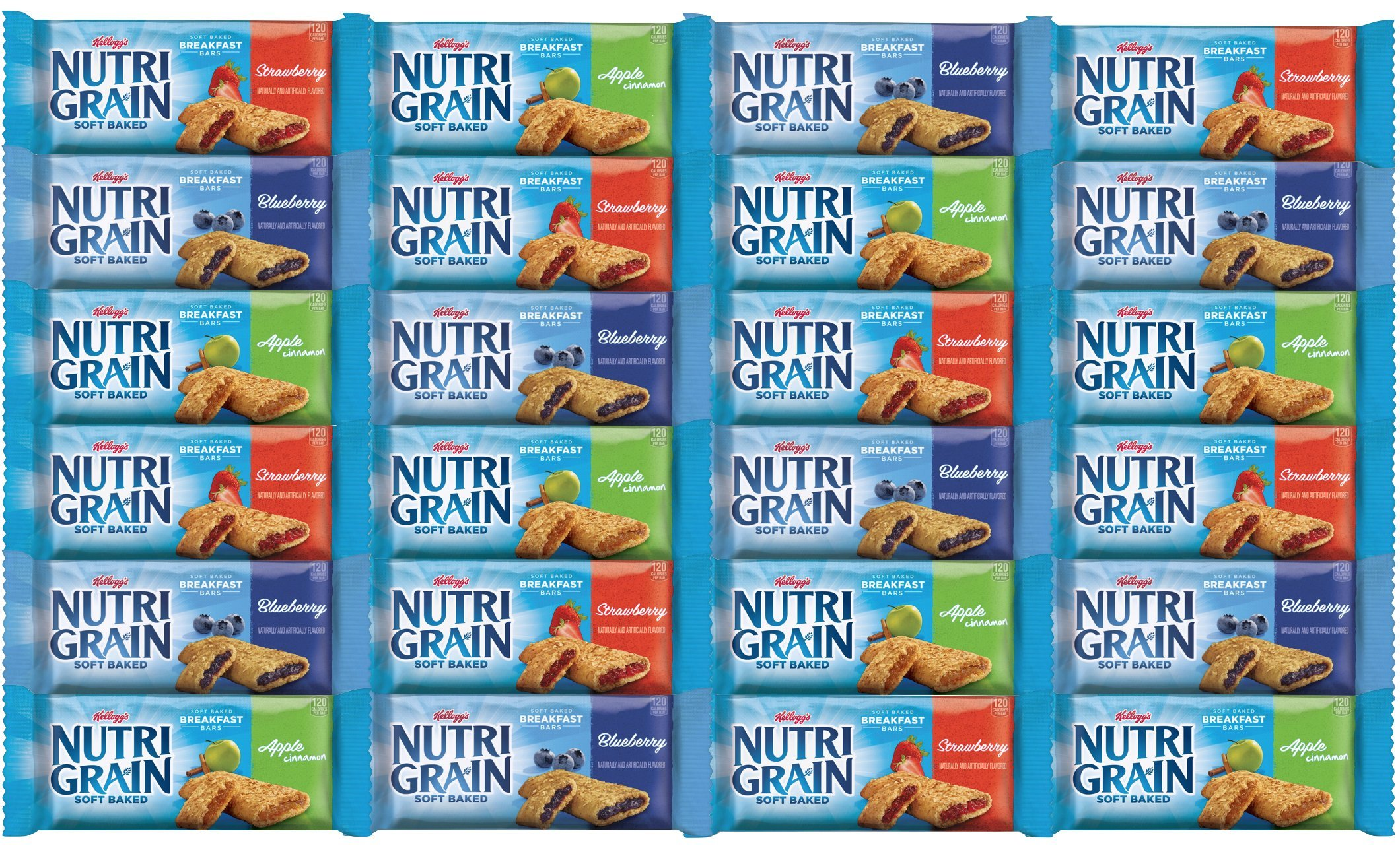 Nutri-Grain Soft Baked Cereal Bars Variety Pack (24 bars) by West End Foods