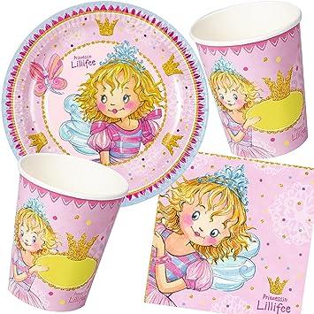 Prinzessin Lillifee 37 piezas Party * * con plato + taza + ...
