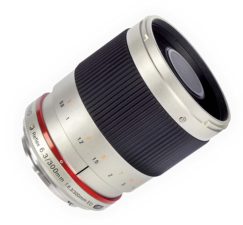 Samyang 300mm F6.3 ミラーレンズ ミラーレス交換可能 レンズ カメラ用  シルバー B00DRC9JI2