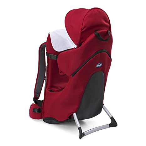 Chicco Finder – Mochila portabebé para espalda blanco rojo Talla:Única