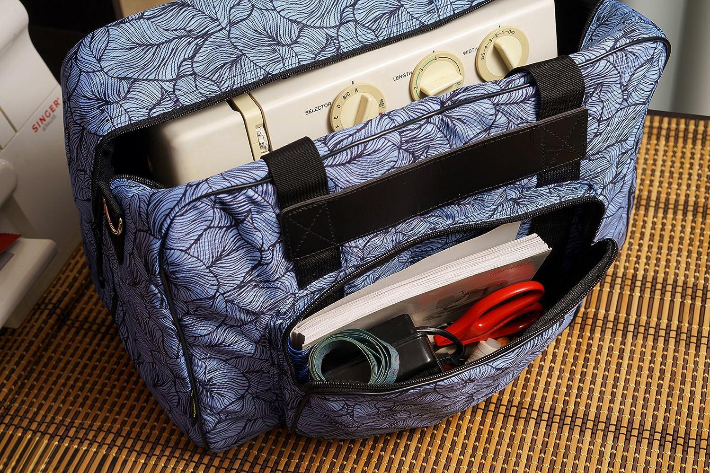 Kenley Máquina de coser funda maletín Máquina de coser – Grande – Color negro/azul: Amazon.es: Hogar