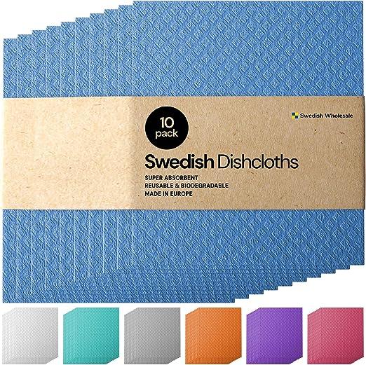 Swedish Sponge Cloth Cellulose Biodegradable 3-pack Super Absorbent. ARN/&Co