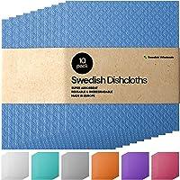 Swedish Dishcloths Wholesale Sponge Cloth - Bulk 10 Pack Reusable Eco-Friendly Biodegradable Cellulose Cleaning…
