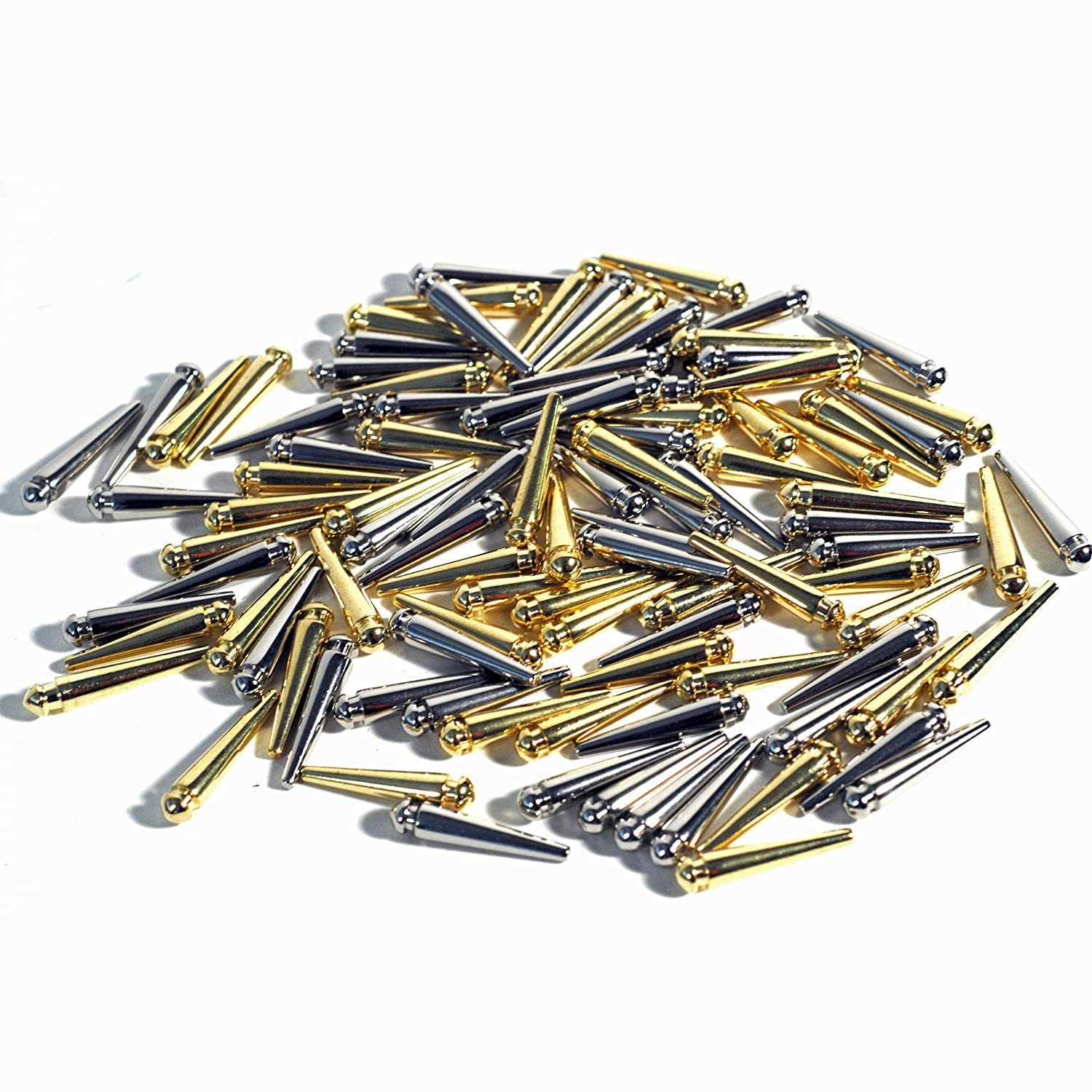 WE Games Premium Easy Grip Cribbage Pegs with a Tapered Design - Set of 100 (50 gold & 50 silver) B000JMCNM2
