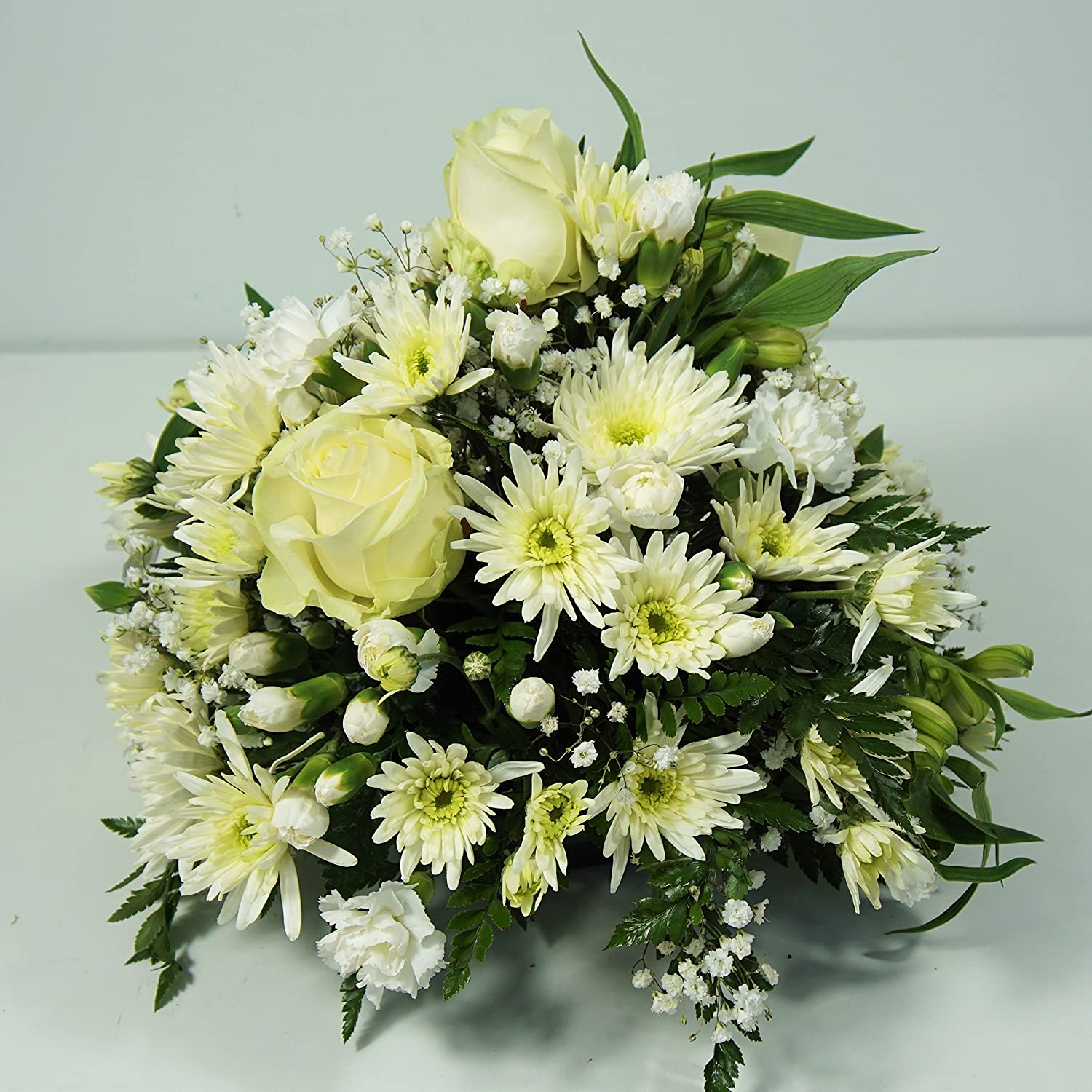 All White Funeral Flower Posy Delivered Next Day Uk Free In 1hr