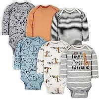 Gerber baby-boys 6-pack Long-sleeve Onesies Bodysuit