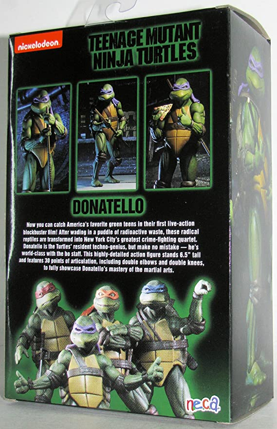 Donatello NECA Teenage Mutant Ninja Turtles GameStop années 90 Movie figurine Teenage Mutant Ninja Turtles