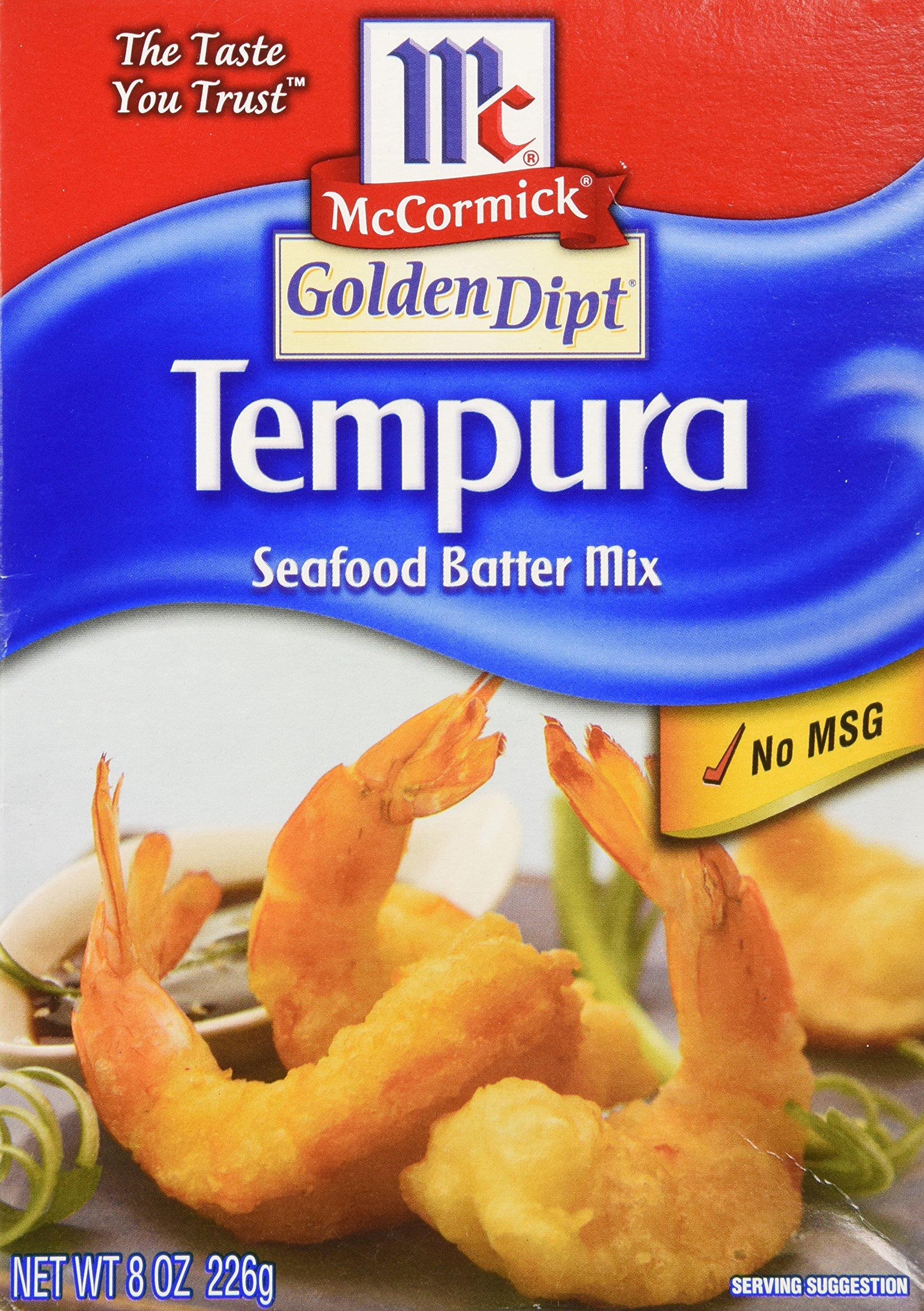 McCormick Golden Dipt Tempura Seafood Batter Mix 8 Ounces (Pack of 3)
