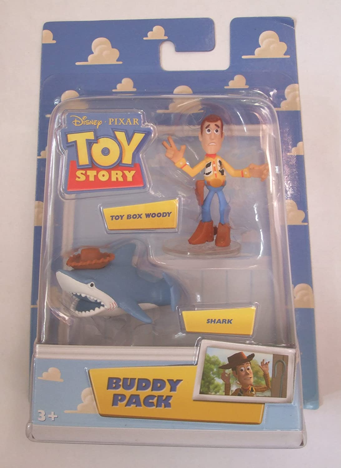 Disney Pixar Toy Story Mini Figure Buddy 2Pack Toy Box Woody Shark ...