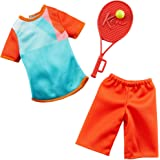 Barbie Clothes -- Career Outfits for Ken Doll, Tennis Player Uniform with Ball and Racket