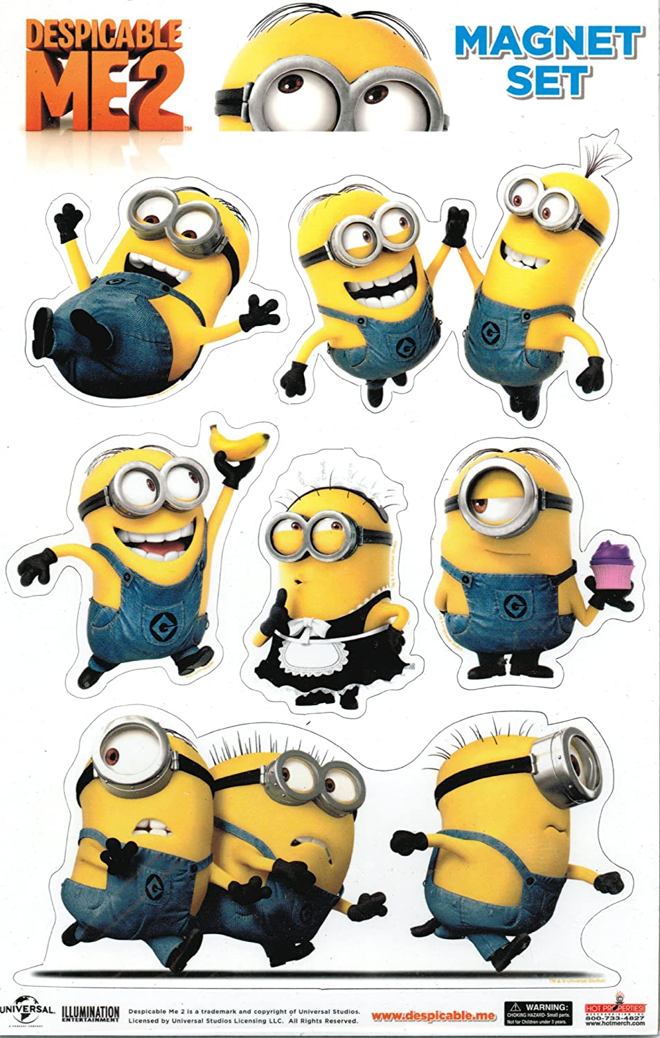 Despicable Me 2 Minions Magnet Set Toy Zany
