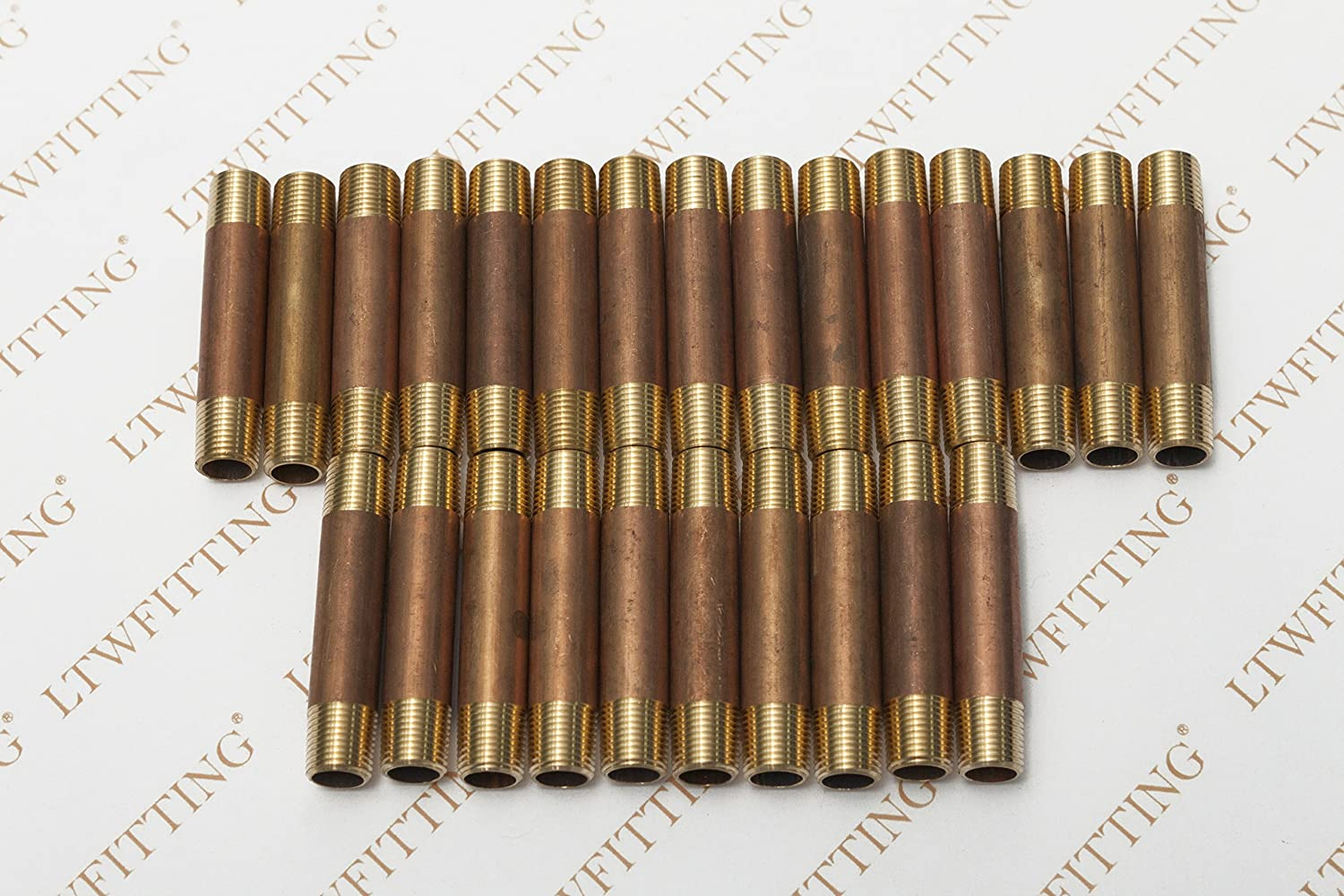 LTWFITTING Brass Pipe 1-1//2 Long Nipple Fitting 1//2 Male NPT Air Water Pack of 5