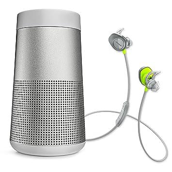 Bose Revolve Altavoces Lux Gray & SoundSport Auriculares In-Ear inalámbricos – Escultura de –