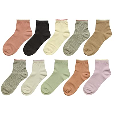 BEAR MUM Women's 10 Pairs Colorful Patterned Ankle Socks at Amazon Women's Clothing store