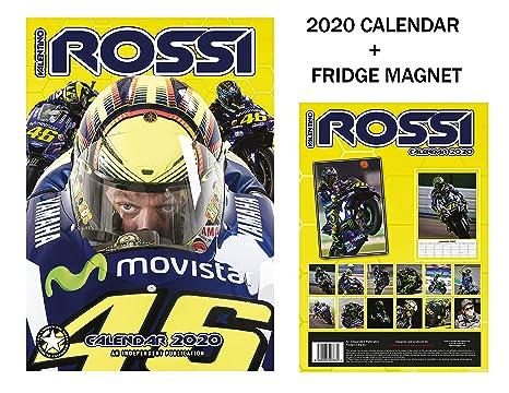 Calendario Valentino Rossi 2020.Valentino Rossi Calendario 2020 Valentino Rossi Frigorifero