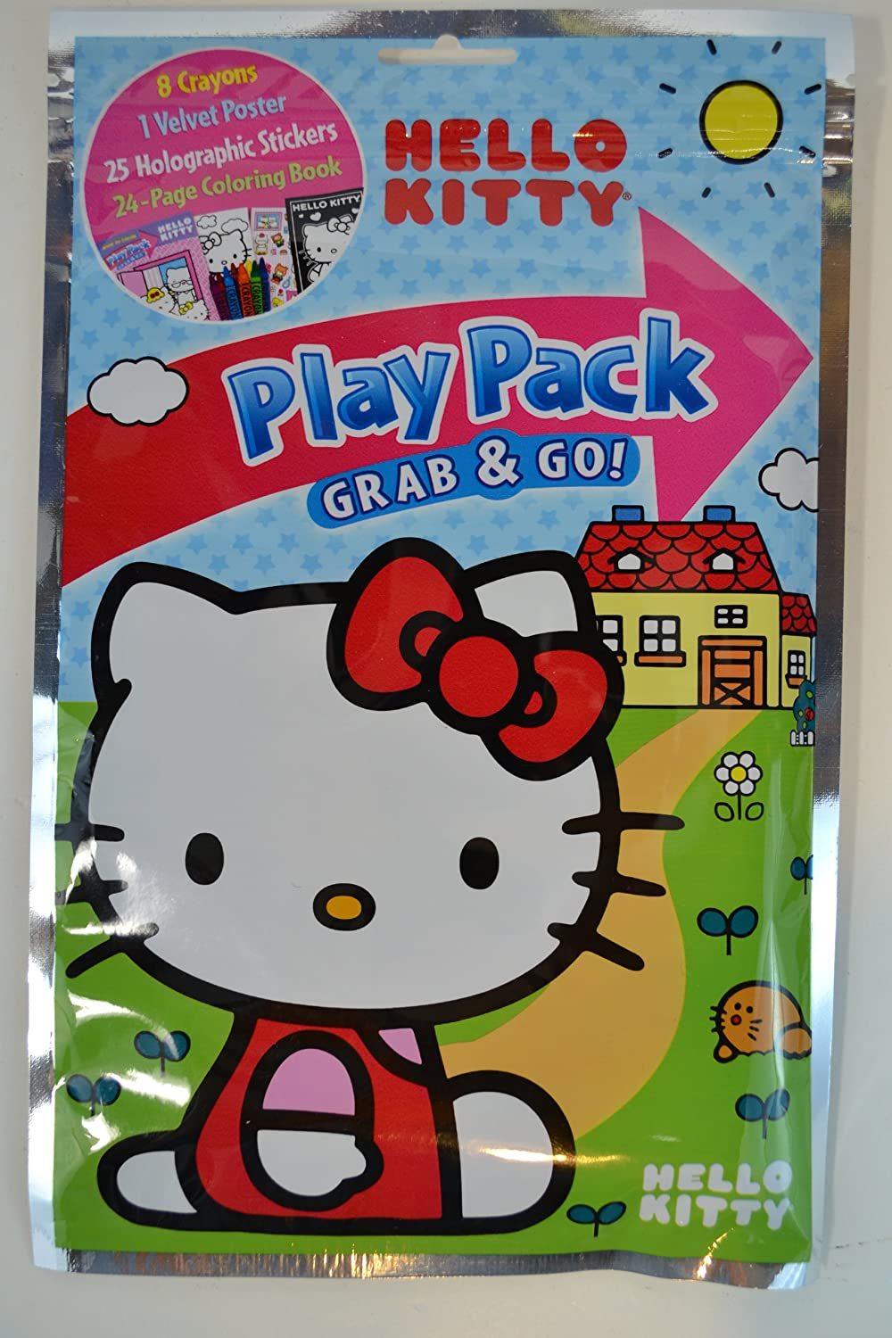 Stickers Poster Hello Kitty Play Pack Grab /& Go Crayons Coloring Book Dalmation Press