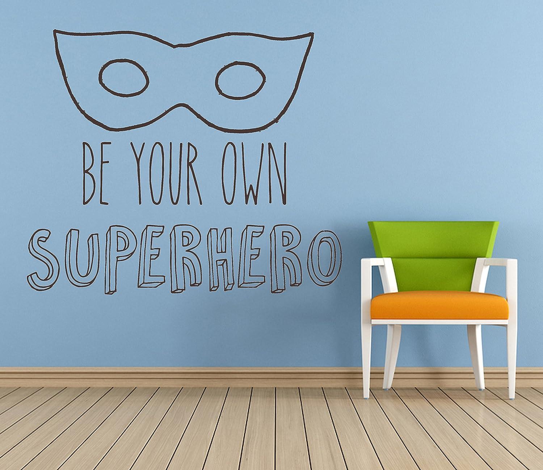Amazon.com: Be your own Superhero Quote, Vinyl Wall Art Sticker ...