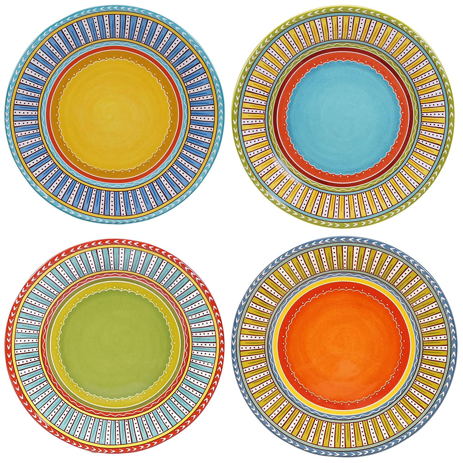 Certified International Valencia Dinner Plates (Set of 4), 11.25