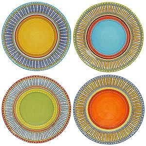 "Certified International Valencia Dinner Plates (Set of 4), 11.25"", Multicolor"