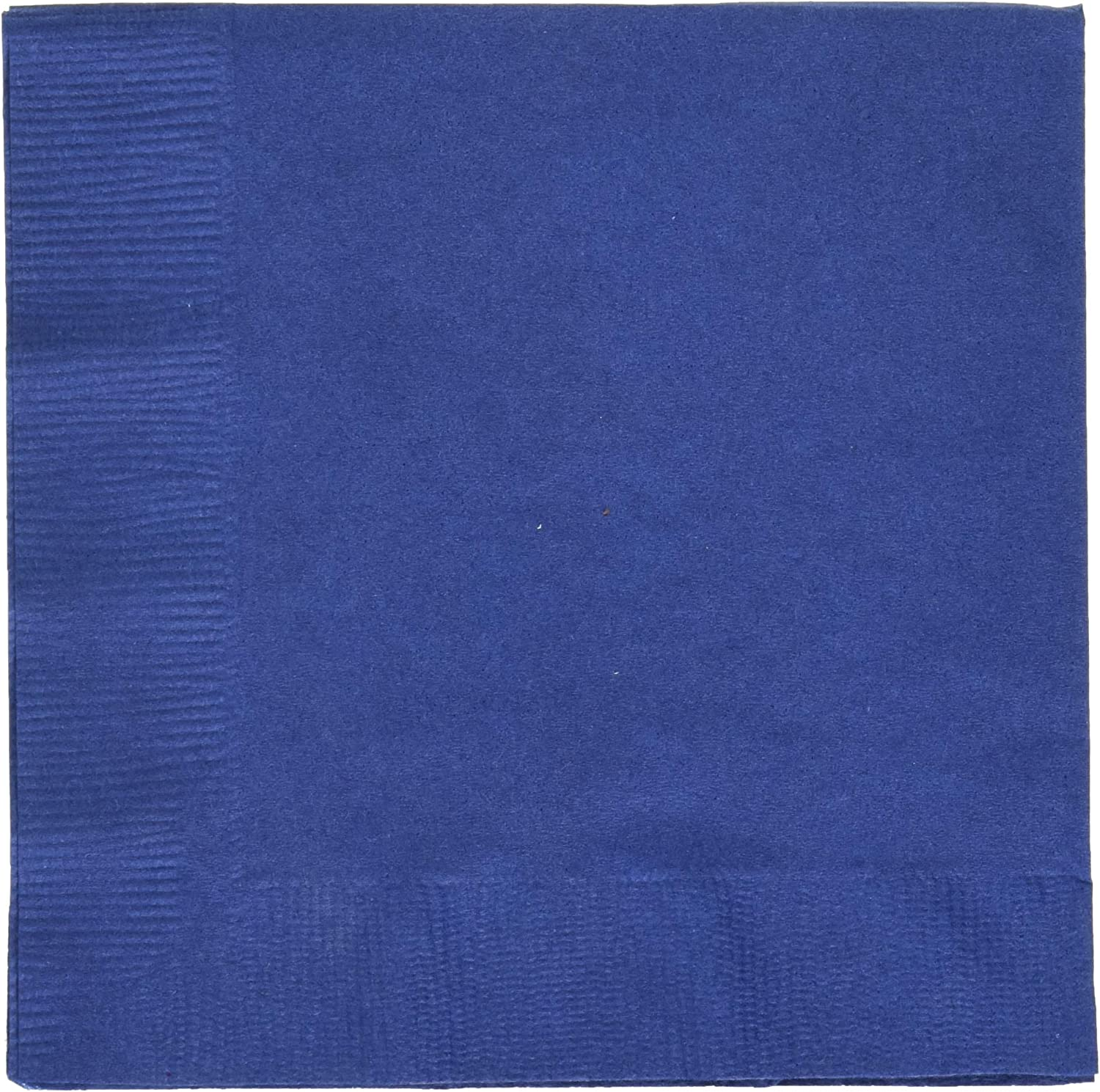 Creative Expressions Cocktail/Beverage Napkins, Navy Blue (571137B)