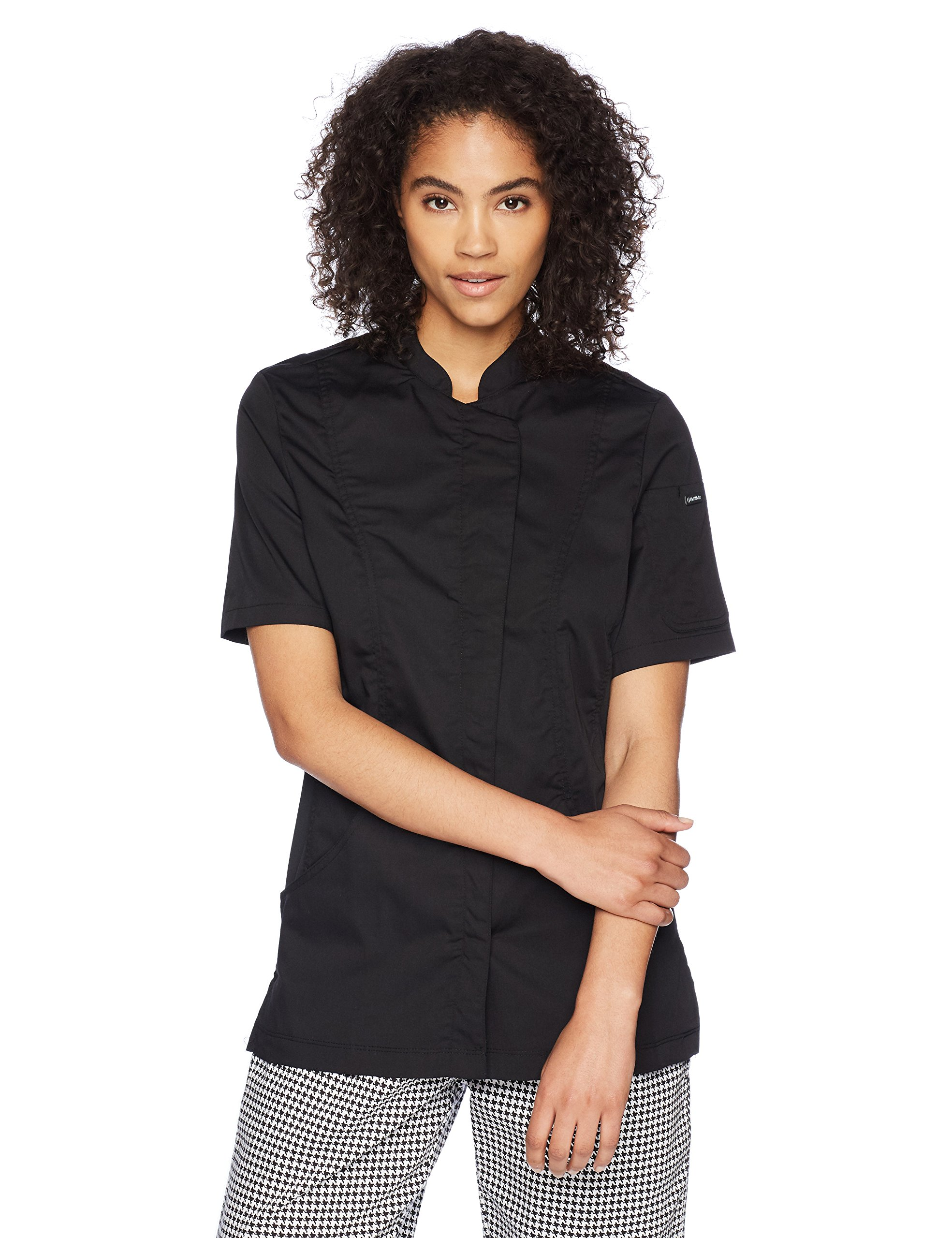 Chef Works Women's Roxby Chef Coat, Black, Small by Chef Works