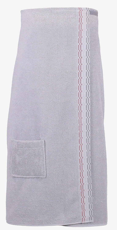 BETZ Toalla Sauna para Mujeres 100/% algod/ón con Velcro Color Gris