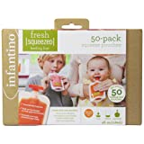 Amazon Price History for:Infantino Squeeze Pouches, 4-Fl Oz