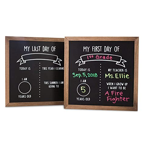 Amazon first and last day of school reusable chalkboard sign