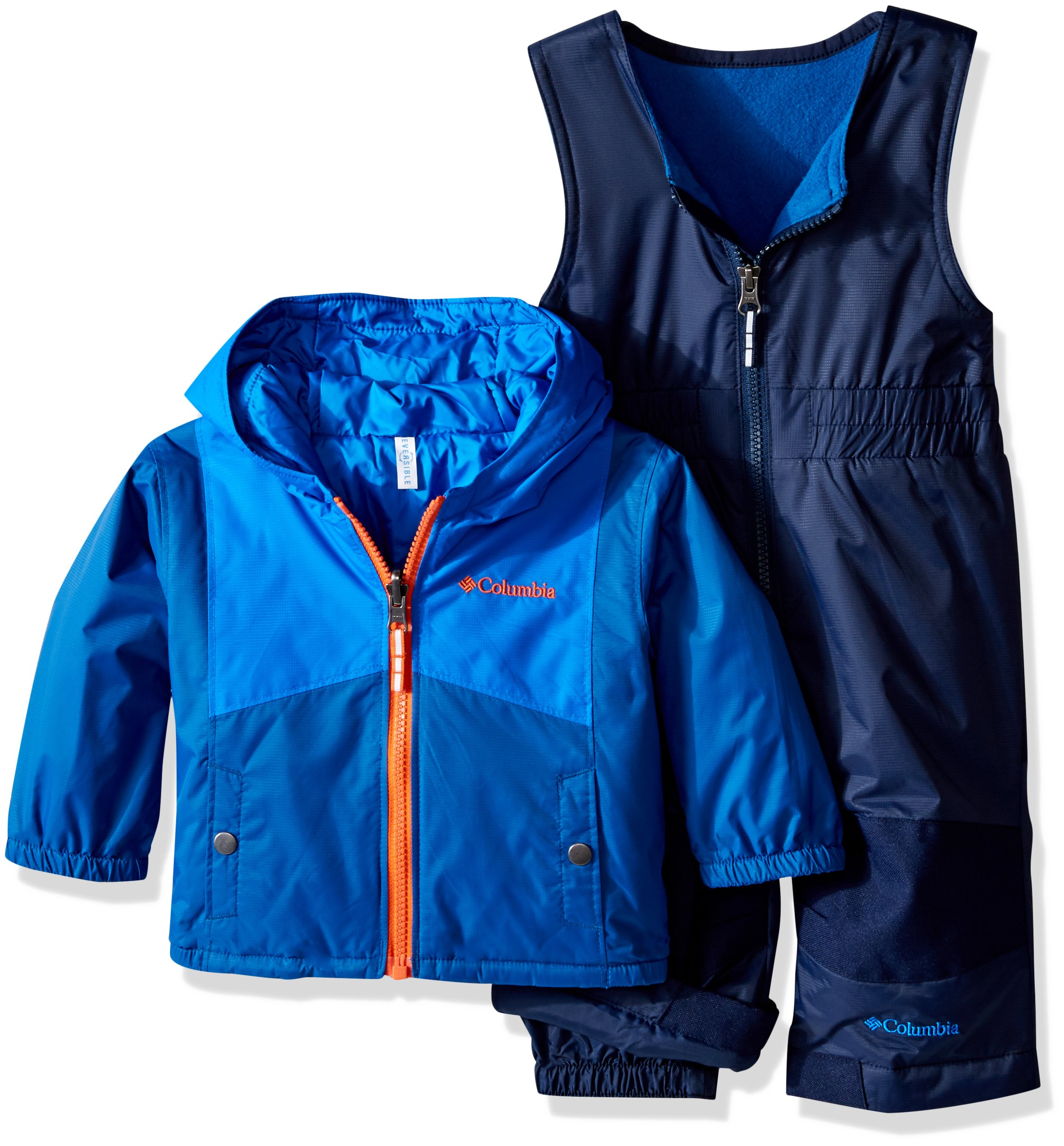 Columbia Baby Double Flake Set, Super Blue, 12-18 Months