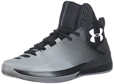 42035fab3839 Under Armour Men s Rocket 3 Basketball Shoe Black (005) Zinc Gray 8