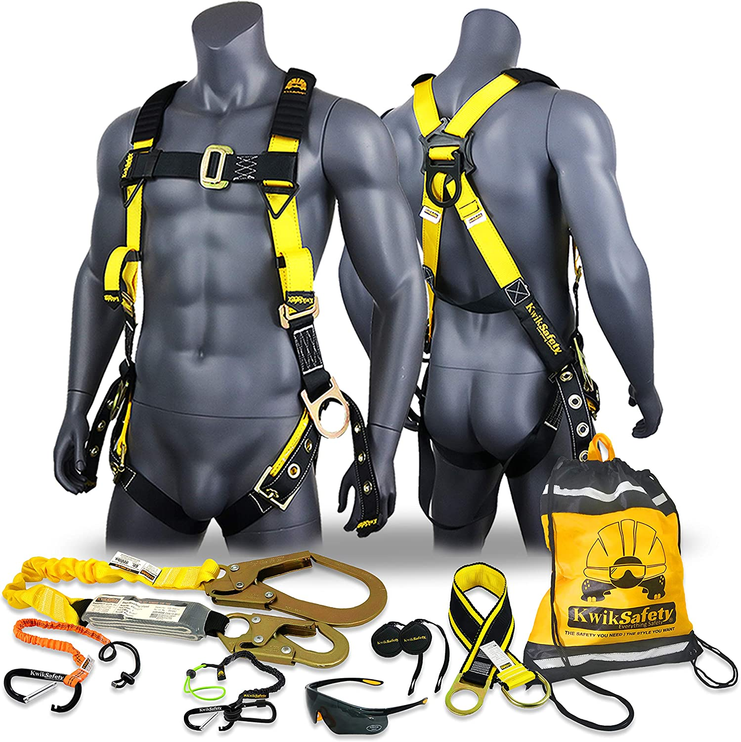 50 ft Vertical Lifeline Tool Lanyard Roof Anchor ANSI OSHA PPE Fall Protection Arrest Restraint Construction Roofing Bucket TORNADO ASSEMBLY Charlotte, NC 1D Full Body Safety Harness KwikSafety