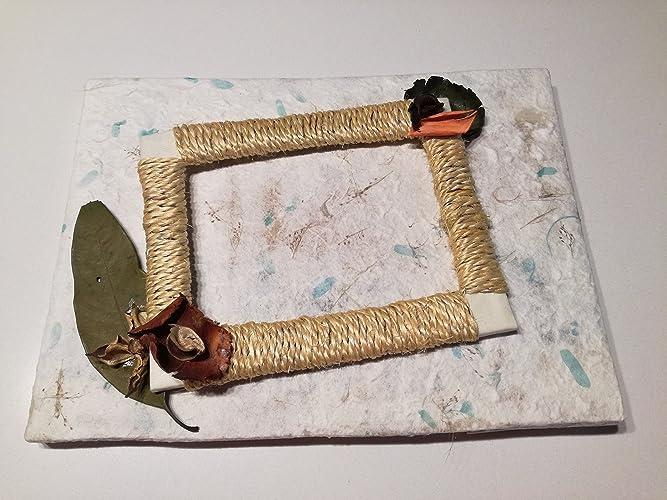 Potpourri Fai Da Te.Portafoto In Carta Di Riso Decorata Con Filo Di Iuta E Potpourri