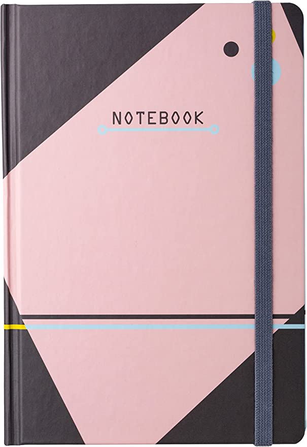 Black A5 Faux Leather Hardcover Notebook Dotted Grid Notebooks and Journals 5/×8.25 96 Sheets Premium Thick Paper with Fine Inner Pocket