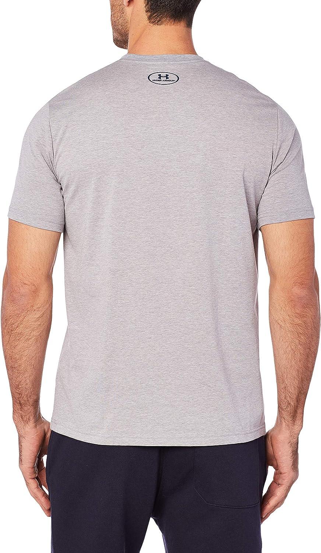 Blocked Sportstyle Logo Men's Short-Sleeve Shirt Steel Light Heather / Royal / Academy (035)