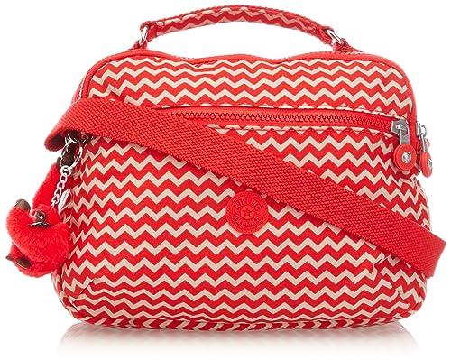 31484c14f Kipling YELINDA - Bolso Mochila de material sintético mujer, color rojo,  talla 27x26x13 cm