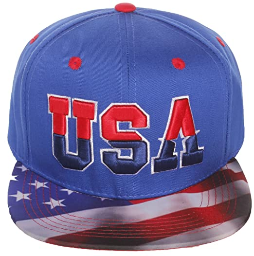 1576edc9511dd Image Unavailable. Image not available for. Color  American Cities Men s USA  Flag National Snapback Hat Cap 3D Embroidery