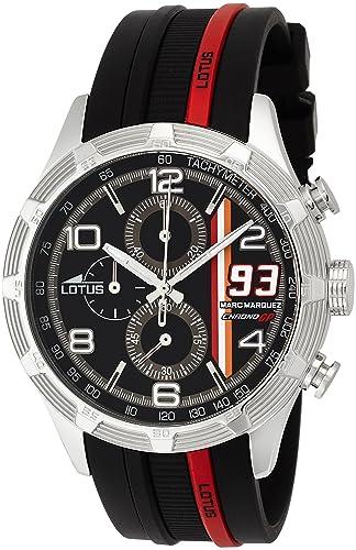 Lotus 15881/6 - Reloj de cuarzo para hombre, con correa de goma, color negro: Amazon.es: Relojes