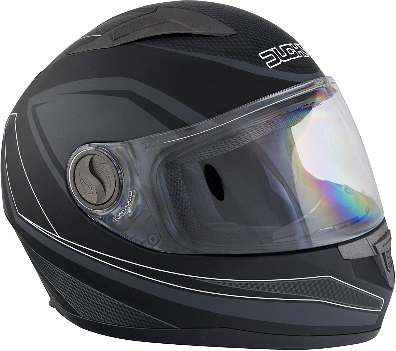 Size Large Black//Gun Duchinni D705 Syncro Helmet