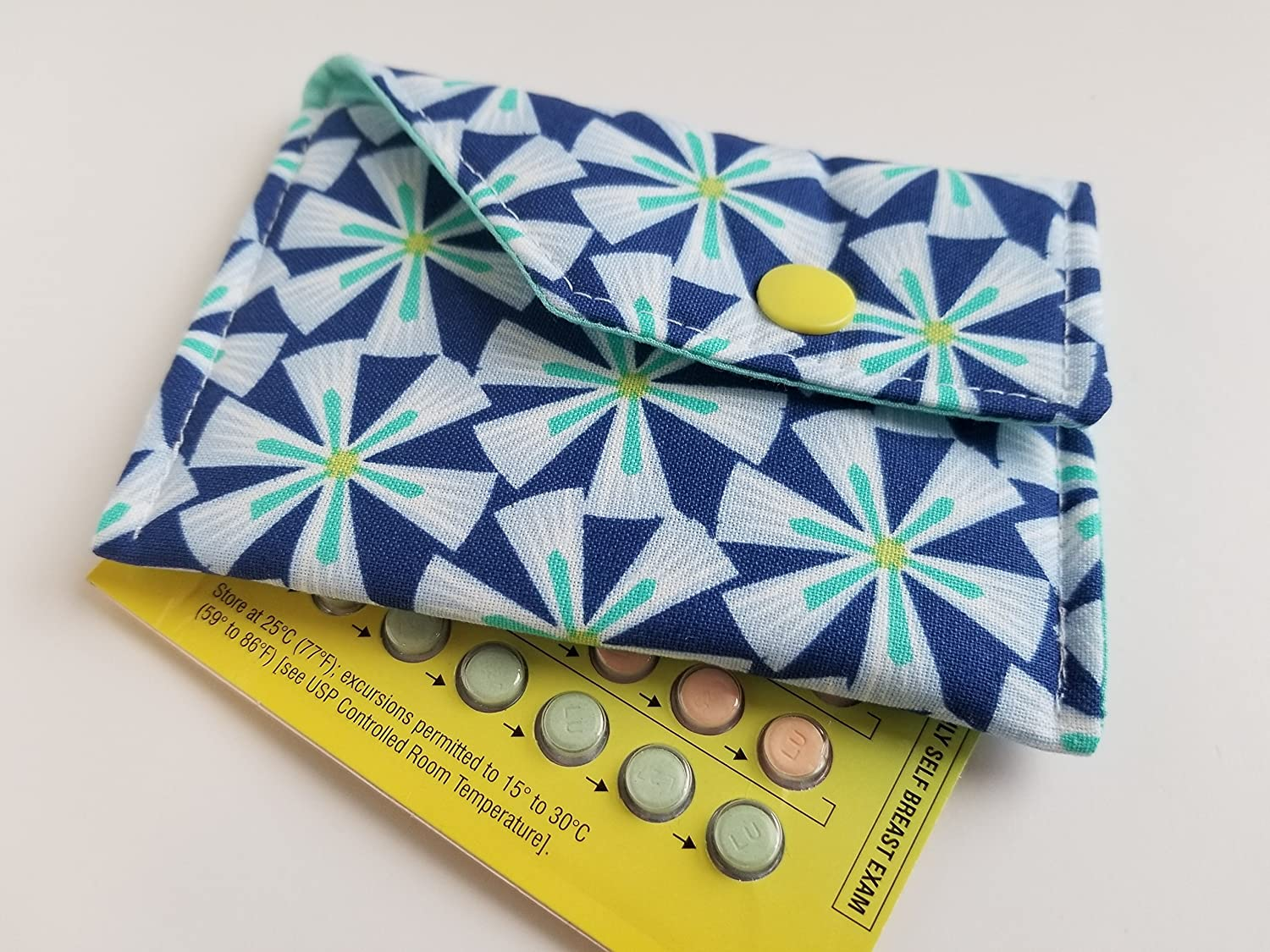 Birth Control Case Sleeve with Snap Closure -Graphic yellow