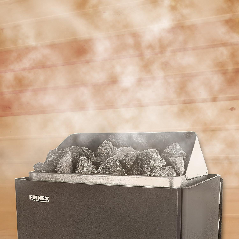 Sauna Po/êle /Électrique Finnex avec unit/é de contr/ôle encastr/é 6.0KW /À lexclusion des pierres