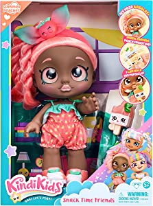 Kindi Kids Snack Time Friends - Pre-School Play Doll, Summer Peaches - for Ages 3+ | Changeable Clothes and Removable Shoes - Fun Snack-Time Play, for Imaginative Kids