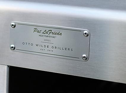 Otto Wilde Grillers - Ottos O. F. B. - Barbacoa de gas de acero inoxidable, temperatura superior a 800 ºC, hasta 970 ºC, con parrilla de hierro y otros ...