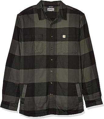 Carhartt Camisa de forro polar resistente Flex Hamilton para hombre (tallas regulares y grandes y altas): Amazon.es: Ropa y accesorios